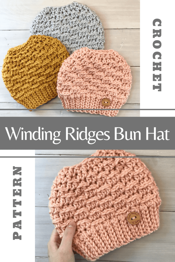 winding ridges messy bun hat pinterest image